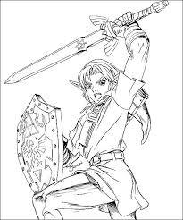 Legend Of Zelda Link Coloring Pages Trustbanksurinamecom
