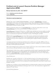 Portfolio Manager Resume Sample Writing A Reference List Frames Using English For Academic 13