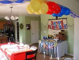 birthday party decoration at endearing party decorations at home