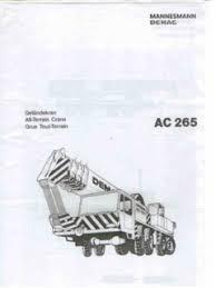 Demag Ac 265 Specifications Cranemarket