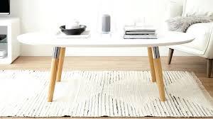 oval coffee table modern