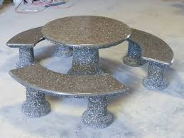 10designer round table set in polished grey tops random 2 cement patio furniture sets