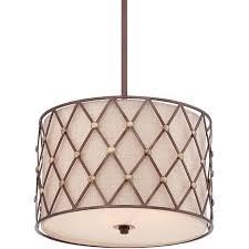 elstead quoizel brown lattice medium pendant copper canyon qz brownlatt p
