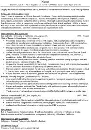 Clinical Research Coordinator Resume Free Resume Templates 2018