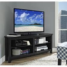 black open concept flat screen corner tv stand – tvstandcom