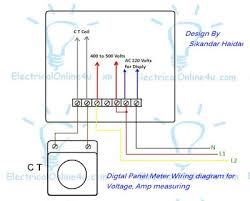 digital ammeter connection diagram wirdig wiring diagram of volt hz ampere meter current transformer ct