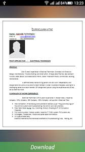 Ideas Collection Sample Cv Format For Freshers Pdf Brilliant Resume