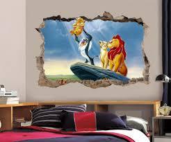 lion king simba smashed wall decal graphic wall sticker decor art
