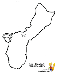 Free Map For Guam Coloring Picture