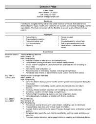 Sample Resume For Nanny Position How To Write A Babysitting Ad