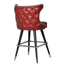 moulin rouge red leather oned bar chair modern red leather dining chairs