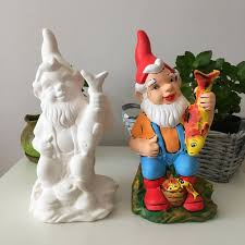ready to paint garden gnome ceramic