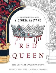 red queen the ficial coloring book