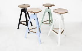 Contemporary bar stool / metal / garden - By Luca Pegolo