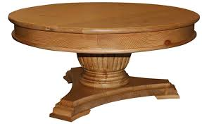 40 round pedestal coffee table