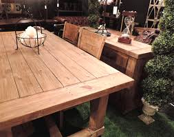Country Dining Tables Country Reclaimed Solid Wood Farmhouse Dining Table Set At Gowfb