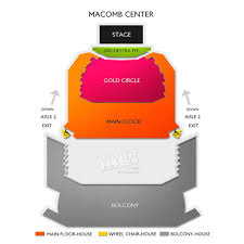 Macomb Center Seating Chart Related Keywords Suggestions