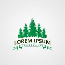 Creative Landscape Design Creative Landscape Pines Tree Logo Concept Design Templates