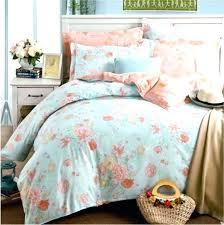 light blue fl designer bedding set king size queen aplain pale single duvet cover twin plain