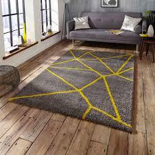 royal nomadic 5746 grey yellow rug by think rugs