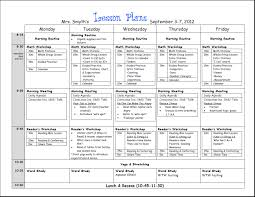 Daily Lesson Plan Template Word | Mommymotivation