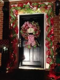 how to hang garland around front doorMesh garland around our front door whimsical door Christmas