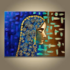 Hand Made Painting Egyptian Girl Wall Canvas Picture Oil Abstract Classy Home Decoration Painting Collection