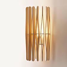Contemporary Wall Light Aluminum Wooden Led