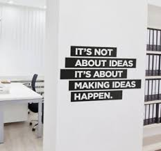 office motivation ideas. Image Is Loading Wall-Sticker-Motivation-Ideas-Quote-Office-Mural- Motivational- Office Motivation Ideas A