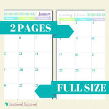 Two Page Monthly Calendar Template 2018 - Romeo.landinez.co