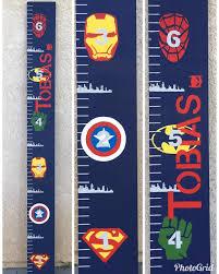 Super Hero Avengers Superman Batman Growth Chart Ruler
