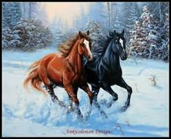 Details About Double Horse Chart Counted Cross Stitch Patterns Needlework Diy Dmc