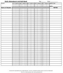 Daily Attendance Sheet For Excel Attendance Sheet