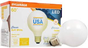 Opale Light Sylvania 60 Watt Equivalent G25 Led Light Bulb Soft White