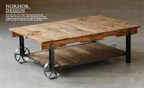 wrought iron and wood furniture. American Rural Retro Iron Wood Coffee Table With Wheels Industrial Loft Living Room Tea Creative Parcel Shelf Rack-in Tables From Furniture On Wrought And L