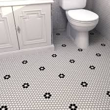 Retro Hexagon  X  Porcelain Mosaic Tile In Glazed - Glazed bathroom tile