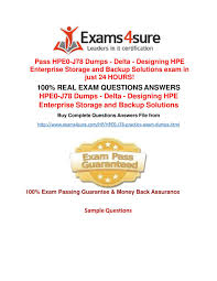 Designing Hpe Backup Solutions 100 Real Exam Questions Answers Ppt Download