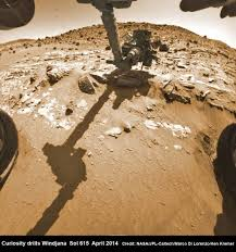 what are the benefits of space exploration universe today hazcam fisheye camera image shows curiosity drilling into windjana rock target on 29