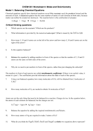balancing chemical equations worksheet answer key gizmo jennarocca