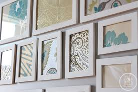 diy wall art with picture frames