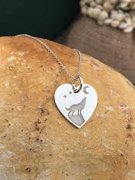 925 sterling silver wolf pendant charm
