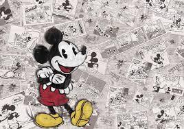 Fototapeta Disney Mickey Mouse Vintage Noviny