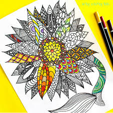 Small Picture Sunflower Coloring Page Arty Crafty Kids