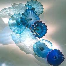 whole blown glass hanging wall plates brand blue art shared kids room and storage ideas