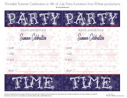 free printable summer celebration starry night invitations by b nute ions