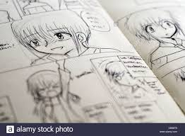 1300x953 detail of black and white anese style manga drawings in a ic