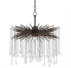 currey company fen wrought iron crystal chandelier small by currey company