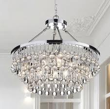 wellyer loke 9 light crystal chandelier reviews wayfair pertaining to popular household lighting crystal chandelier remodel lighting upside down