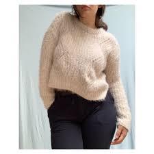 Fuzzy Light Pink Sweater Fuzzy Light Pink Sweater Super Comfortable Fuzzy Depop