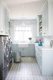 Jillian Harris chose Schumacher's Geyer Stripe for her custom roman shade  in her laundry room, and knew only Q. Design could make the most perfect  roman ...